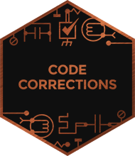 An illustration representing code corrections