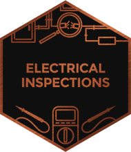 An illustration representing electrical inspections