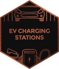 An illustration representing EV Charging Stations