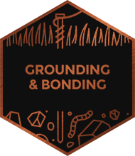 An illustration representing grounding and bonding