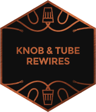 An illustration representing knob & tube rewires