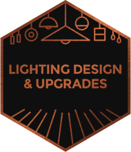 An illustration representing lighting design and upgrades