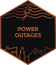 An illustration representing power outages